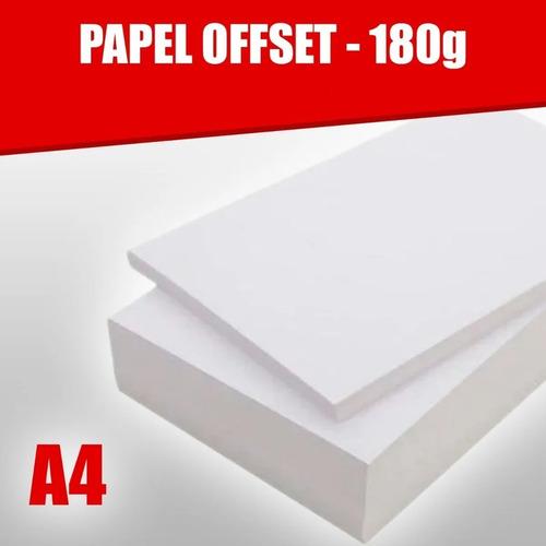 Papel Offset 180g Caixa Com 125 Folhas Tamanho A4 Branco