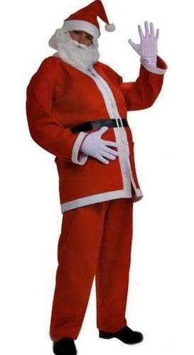 Fantasia Roupa Papai Noel 5 Peças Completa Natal Original