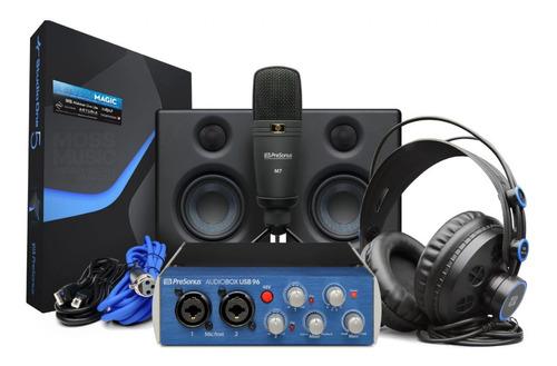Kit Interface Presonus Audiobox 96 Ultimate Novo Lacrado Nf