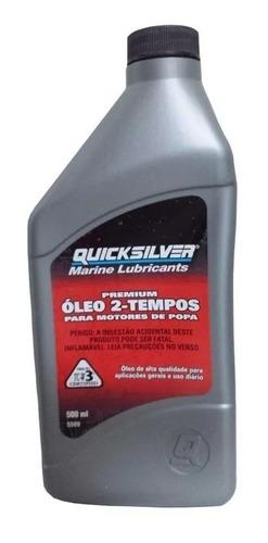 Óleo Quicksilver Premium Tc-w3 Para Motores 2t 500 Ml