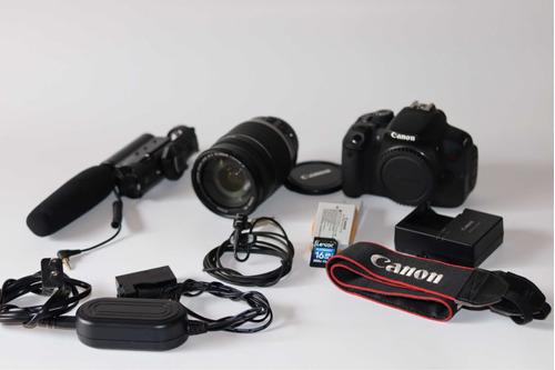 Câmera Cânon T5i+lente Cânon 18-200mm+2baterias E Muito Mais