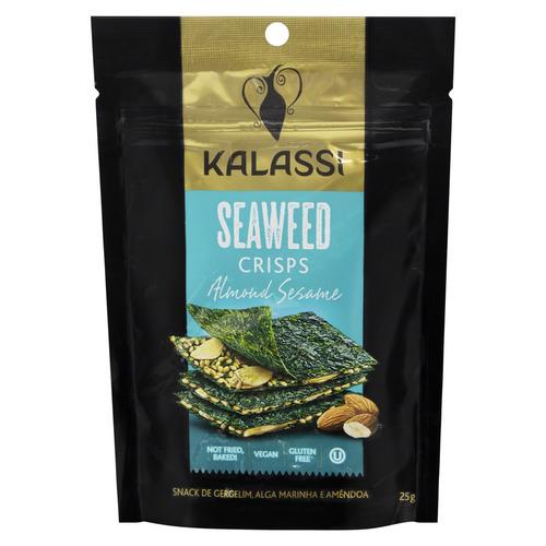 Snack Kalassi Gergelim, Alga Marinha E Amêndoa Sem Glúten 25 G