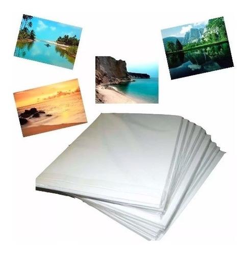 100 Folhas Papel Foto Adesivo 80g Glossy A4 Prova D'água