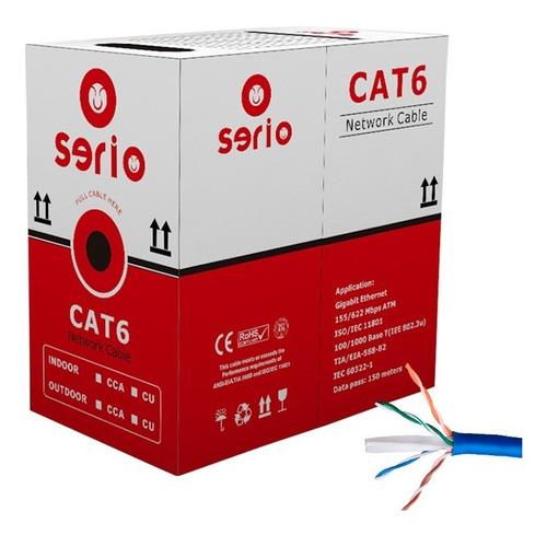 Cable Utp Cat 6 Interior Cca Para Cctv O Redes Caja 100 Mts
