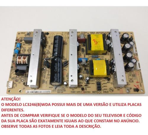 Placa Fonte Semp Toshiba Lc3246(b)wda Kps+l110c2-01 35015820