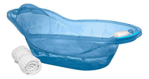 Banheira Barquinhos 23l Azul