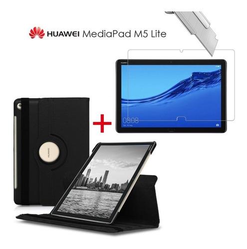 Huawei Mediapad M5 Lite 10.1 Funda + Mica De Vidrio Templado