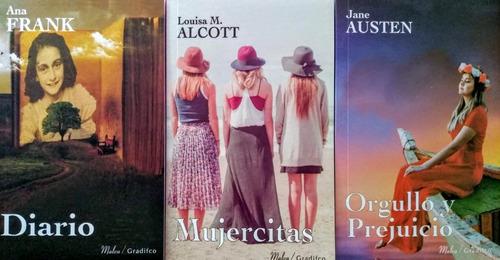 3 Libros Orgullo Y Prejuicio Mujercitas Diario De Ana Frank
