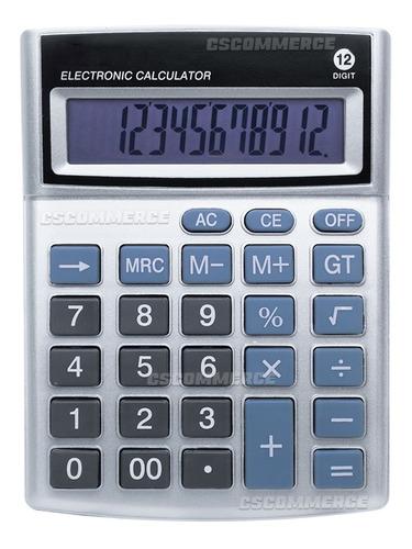 Calculadora De Mesa Balcao Escritorio 12 Digitos Eletronica