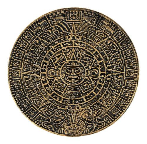 Calendário Asteca Parede Decorativo Xiuhphualli Resina