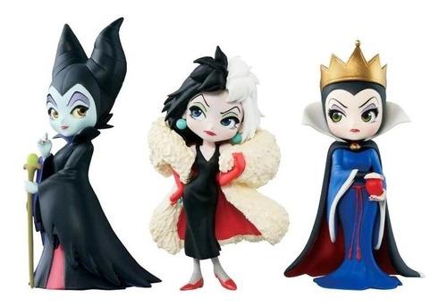 Q Posket Lote Com 3 Action Figures Vilãs Disney - Lacrado
