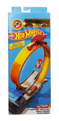 Pista Hot Wheels Track Builder Rei Do Looping - Mattel
