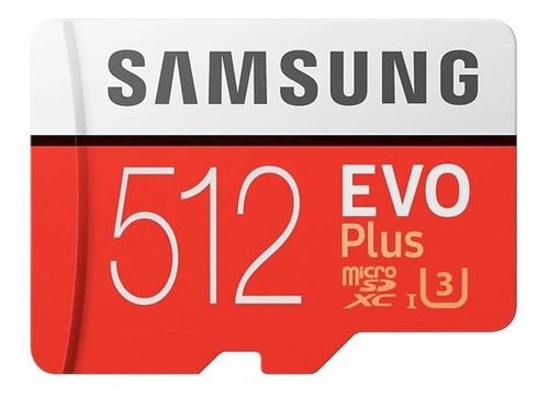 Cartão De Memória Samsung Mb-mc512ga/eu  Evo Plus Com Adaptador Sd 512gb