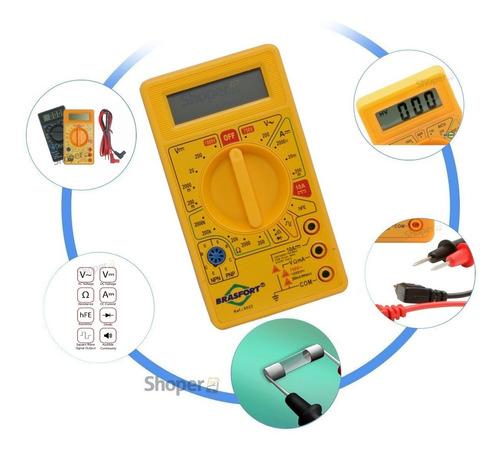 Multimetro Digital Com Teste Onda Quadrada E Beep Sonoro Hfe