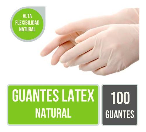 Guantes Descartables De Latex Natural Resistentes Caja X 100