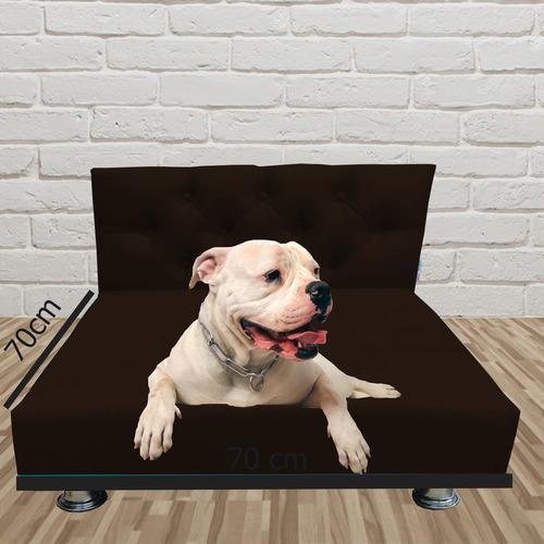 Cama Pet Box Suede Marrom 70 X 70 X 15 Lançamento