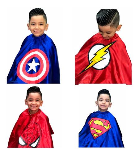 Capa De Corte Cabelo Infantil Barbearia Com Ziper Barbeiro