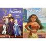 Ler E Colorir Disney Frozen E Moana