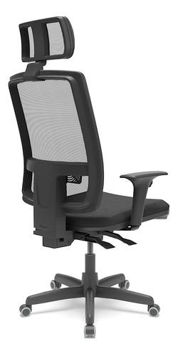 Cadeira De Escritório Presidente Brizza Braço 3d Backplax