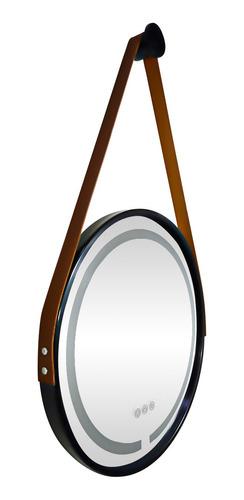 Espelho Decorativo Redondo C/ Led Alça Top 45cm - Promoção