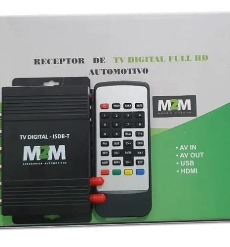 Receptor Tv Digital Full Hd Automotivo Usb Rca Hdmi Av