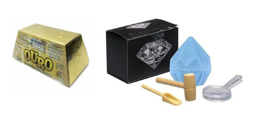 Kit Brinquedo Escava Prêmio Ouro+ Escava Prêmio Diamante