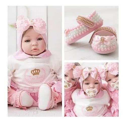 Bebê Menina Real Realista Reborn Perolas Barata Princesa