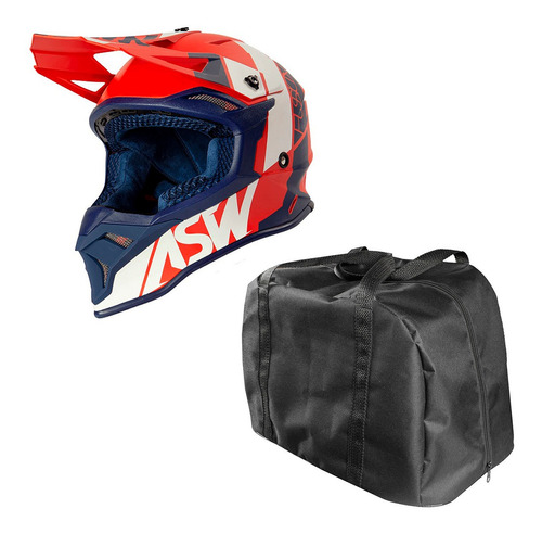 Capacete Asw Motocross Fusion 2.0 Vermelho