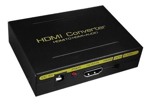 Conversor Hdmi P/hdmi C/extrator De Áudio Rl E Spdif - El088