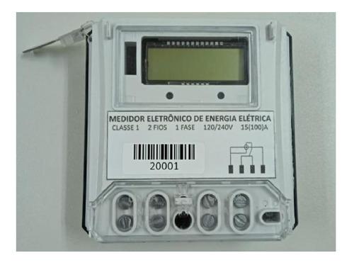 Relogio Medidor Consumo Monofasico Eletronico 1fase+neutro