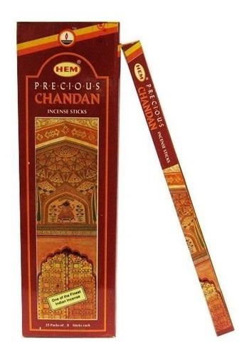 Incenso Hem Precious Chandan Box C/ 25 Caixinhas 8 Varetas