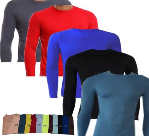 Kit 5 Camisas Proteção Solar Uv+50 Segunda Pele Moda Praia