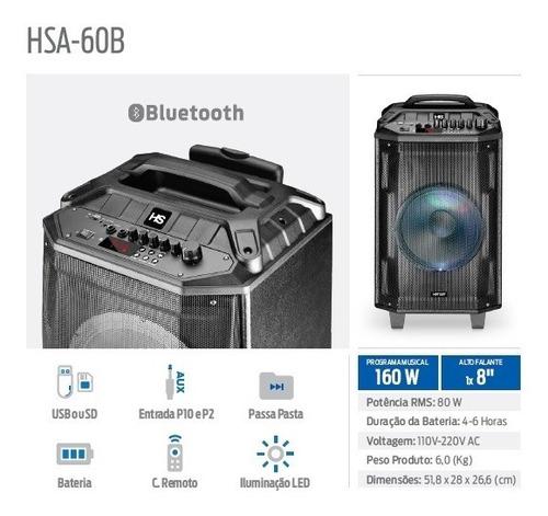 Caixa Som Bluetooth 160w Bateria Rodinhas Potente Promoção