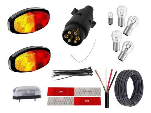 Kit Eletrico Instalação Lanterna Carretinha Reboque Engate