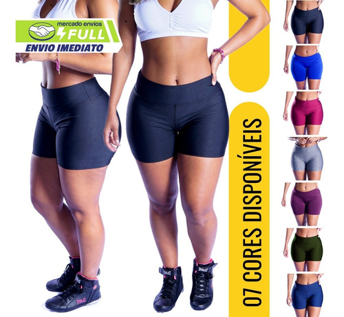 Shorts Meia Coxa  Shortinho Curto Fitness Para Academia Cros