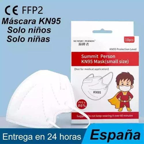 Máscaras Infantil Kn95 Proteção Respiratória Kids Pff2 10 Un