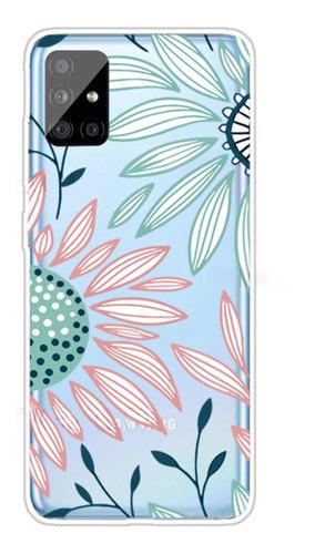 Protector Samsung A31/a31s Diseño Flores