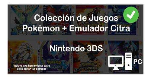Colección Juegos Pokémon 3ds En Tu Pc