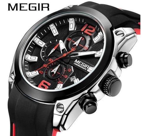 Relógio Masculino Megir Movimento De Quartzo Original Nf