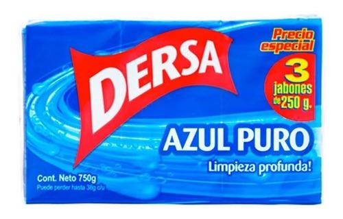 Jabón Dersa Azul X 3 Und X 250 G