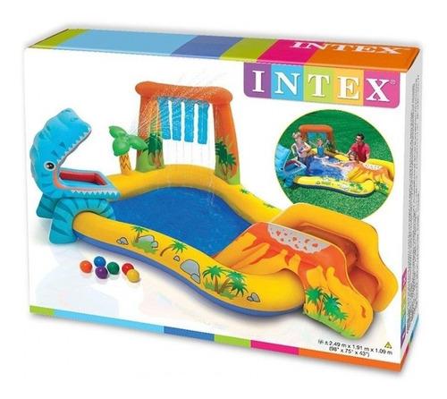 Piscina Intex Dinossauro Play Center Diversão Verão 57444