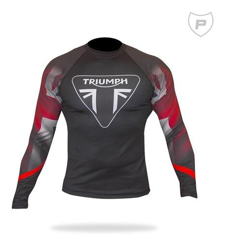 Camisa Uv50+ Segunda Pele Compressão Triumph Rg01-30
