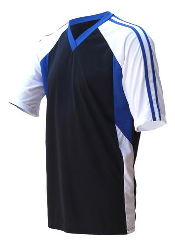 Camisa Futebol Ação Com Detalhe E Listra Na Manga
