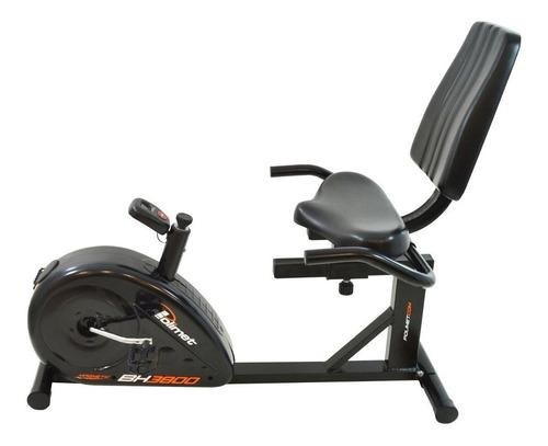Bicicleta Ergométrica Horizontal Polimet Bh-3800 Preta