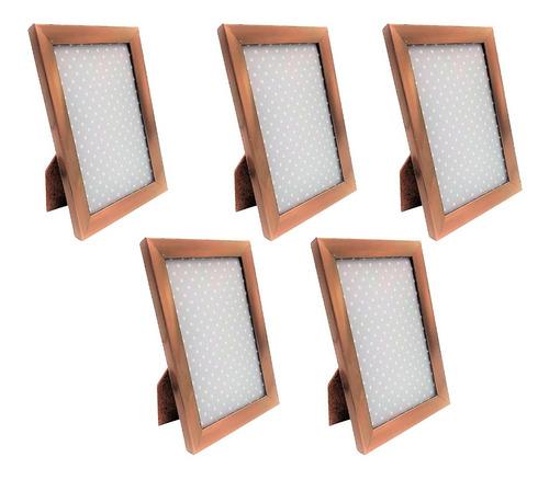 5 Porta Retratos 10x15 Gold Sala Quarto Escritório Moderno