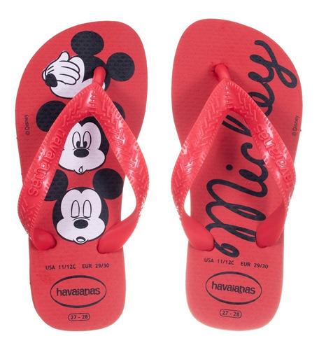 Chinelo Kids Disney Mickey Vermelho Rubi Havaianas