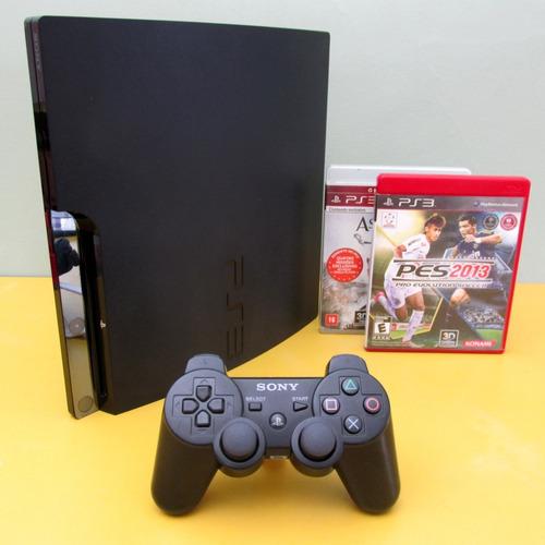 Playstation 3 Ps3 Completo: Jogos Com Controle Original