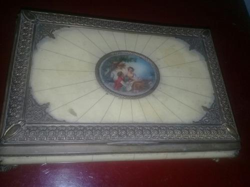Alhajero Antiguo Vintage Adorno Anillos Aros Guardar
