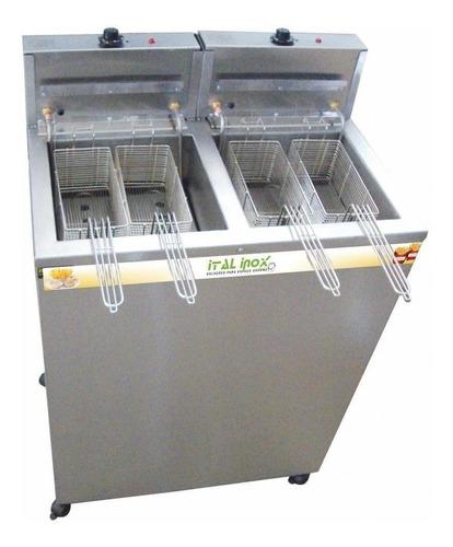 Fritadeira Industrial Elétrica Ital Inox Faoi 18/18 36l Aço Inoxidável 220v