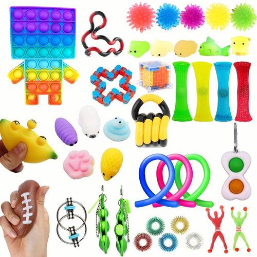 Brinquedo Sensorial Pop It Fidget Alivio De Estresse 39pcs